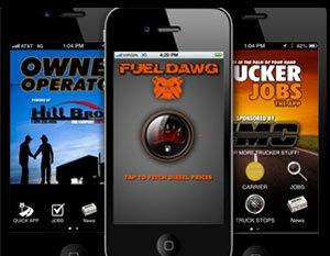 image: US freight truck fuel costs Wright Media app FuelDawg