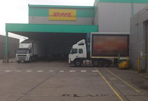 image: DHL freight depot UK closure