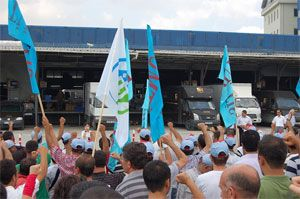image: Turkey parcels service freight terminal shipping union strike Bahrain