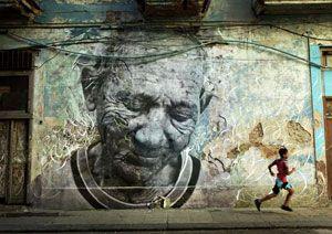 image: France Avant-garde artist JR CMA CGM Terre d�Eaux Banksy