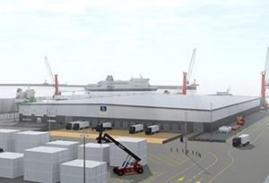 image: Port of Dover UK refrigerated cargo freight ferry terminal Western Docks revival Buckingham Group construction