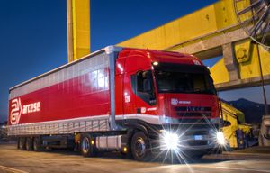 image: Greece Spain Ireland road haulage freight logistics export import trailer container cargo