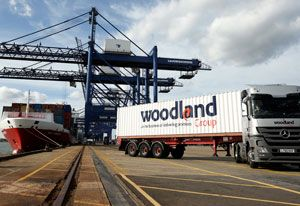 image: UK Woodland freight forwarding logistics export cargo Comma