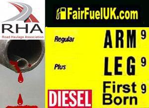 image: UK road haulage RHA truck diesel price FairFuel foreign roads Danny Alexander
