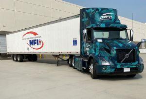 image: US, California, green, credentials, climate change, emissions, Volvo, electric, battery, trucks, supply, chain, third, party, NFI, LIGHTS,