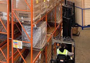 image: K+N Kuehne freight forwarding group RediRack warehousing air cargo facilities