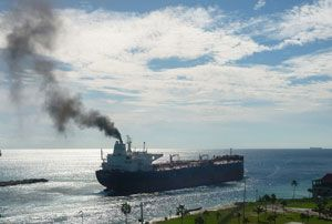 image: UK Indonesia Spain Social conscience shipping emissions CO2 green freight forwarding project out of gauge ocean