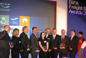image: UK British freight forwarding cargo market awards Samskip TT Club BIFA