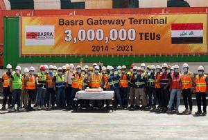 image: Iraq, ICTSI, Basra, shipping, container, terminal, box, ship, TEU,