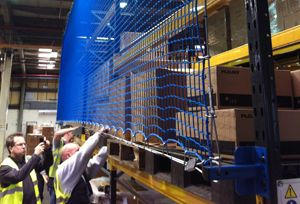 image: UK pallet racking safety net warehousing