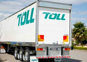 image: US freight forwarding trucking drayage Toll Teamsters