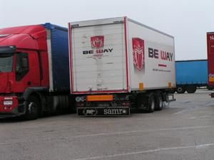 image: UK freight commercial vehicle driver road haulage full load