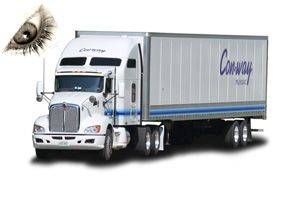 image: US freight truck e log tachograph haulage drayage haulier