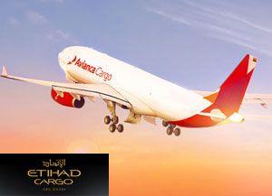 image: Etihad Cargo Avianca air freight alliance Bogota Milan