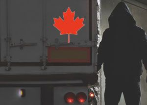 image: Canada road haulage trucking freight crime cargo theft Police