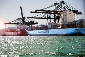 image: Denmark Germany container freight shipping line AP Moller � Maersk  Hamburg S�d vessels takeover  TEU