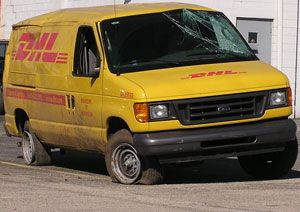 image: Deutsche Post DHL Home Delivery freight Germany Ver.di