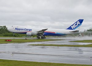 image: Nippon air cargo freighter biofuel Boeing