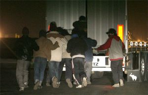 image: UK Border Agency, France, Boulogne, illegal immigrants, Mark Hammond, Eamus Cork Security, ECS, freight, trucks, lorry
