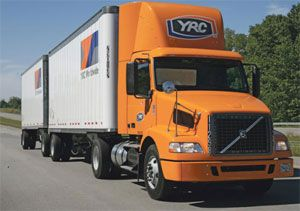 image: US UK YRC logistics freight forwarding customs LTL truck