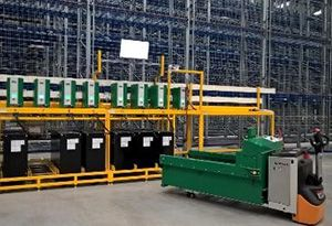 image: UK Hoppecke supply chain automation battery on line retail warehouse Warrington