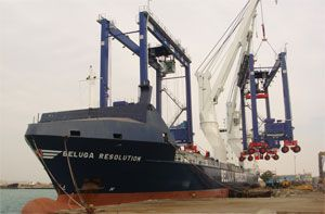 image: US freight forwarding cargo management project heavy lift