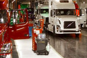 image: Volvo US environmental green credentials zero emissions recycling truck manufacturer supply chain