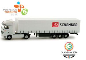 image: DB Schenker freight forwarding and logistics Commonwealth Games Toronto 2015 Glasgow 2015 athletes International Paralympic Committee (IPC)