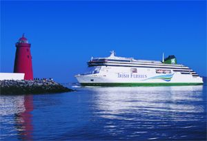 image: Ireland RoRo ferry freight LoLo TEU container Irish Ferries shipping maritime barometer