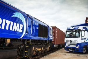 image: UK, Freightliner, Maritime Transport, GBRf, GB Railfreight, Felixstowe, port, Southampton, intermodal, multimodal, COSCO, OOCL,