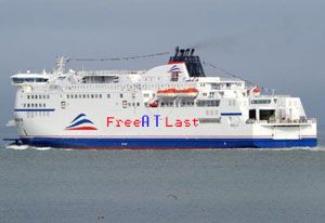 image: France UK RoRo Freight Ferry Dispute SCOP SeaFrance Eurotunnel DFDS Calais vessels ships MyFerryLInk
