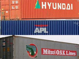 image: Korea Japan Singapore US ocean freight container shipping services