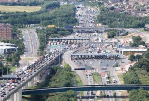 image: UK, Dartford, crossing, tolls, Dart Charge, M25, Lower, Thames, foreign, signage, Severn,