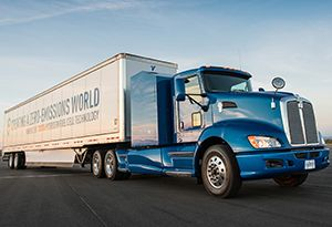 image: US logistics refuelling Hydrogen Toyota truck project portal Shall Equilon California Port of Long Beach