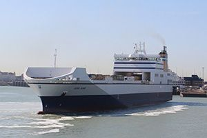 image: P&O Ferries PD Ports RoRo intermodal freight link ferry DFDS Teesport Zeebrugge Rosyth