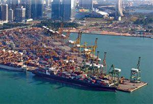 image: CMA CGM France NOL container shipping line terminal operator TEU Singapore Pasir Panjang