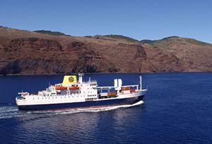 image: UK freight logistics round up St Helena passenger cargo Royal Mail RoRo freight rail cargo