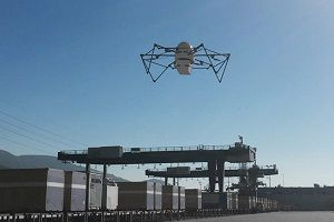 image: Dubai US freight delivery drones logistics awards robot van Switzerland