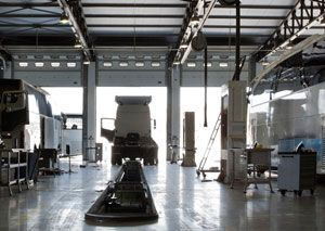 image: UK DP World deep water London Gateway container logistics port chassis hire road haulage trailer maintenance
