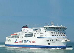 image: UK France SeaFrance Eurotunnel SCOP freight RoRo ferry cross Channel MyFerryLink rail group