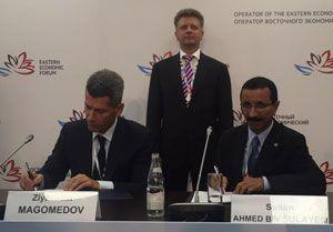 image: Dubai Russia Memorandum logistics port ocean freight Ziyavudin Magomedov DP world Summa Sultan Ahmed Bin Sulayem