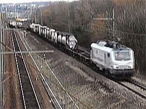 image: European rail freight logistics cargo DB Schenker longest train Sibelin Yard Lyon Nimes Croatia