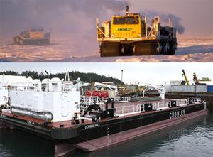 image: US ocean container freight logistics general cargo bulk tanker barge