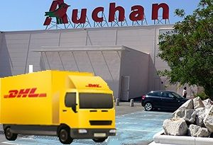 image: France freight forwarding DHL supply chain logistics Auchan