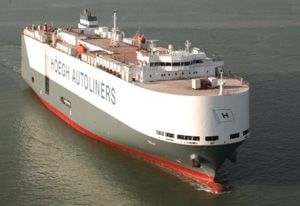 image: Belgium Short Sea Car Carrier freight container logistics automotive