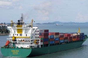 image: Cambodia TEU container maritime logistics feeder shipping line Inchcape Bengal Tiger line