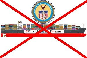 image: US America first container freight box shipping lines NYK MOL K line alliance Federal Maritime Commission
