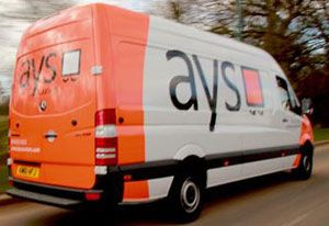 image: UK Midlands AYS freight logistics express courier hanging garments