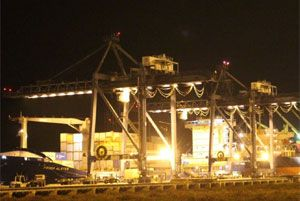 image: Shanghai Ningbo Yangon China ASEAN Myanmar container port feeder TEU freight