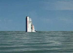 image: France SeaFrance RoRo freight ferry sinks sea freight SNCF